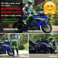 A great friend and a great rider wearing a jacket from #DimensionsleatherHappy Customer from (Taylor, Michigan USA.) #DimensionsLeather We just made this suit fully customized as per our customer requirements, Yamaha R1 with Green and Blue colors looks awesome. -------------------------- Customer Feedback: Highly Recommend Getting Professional Measurements. I love this suite. -------------------------- This suit made with Original Cowhide Leather. CE Approved Protections Original YKK Zipper For more visit our website at www.dimen.co.uk #Getyoursuitwithveryrespectableprices, #YamahaR1MotorcycleRacingLeatherSuit, #YamahaR1 We are the best Motorbike/Motorcycle Clothing Manufacturers and Exporters www.dimen.co.uk