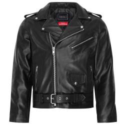 Mens Real Motorbike Motorcycle Leather Brando Jacket