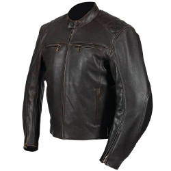 Dimensions Motorcycle Leather Jacket